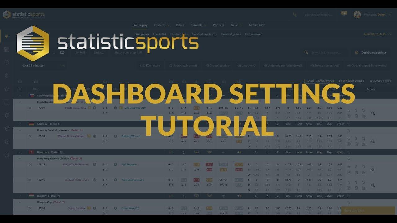 Football statistics Tool - Dashboard Settings Tutorial