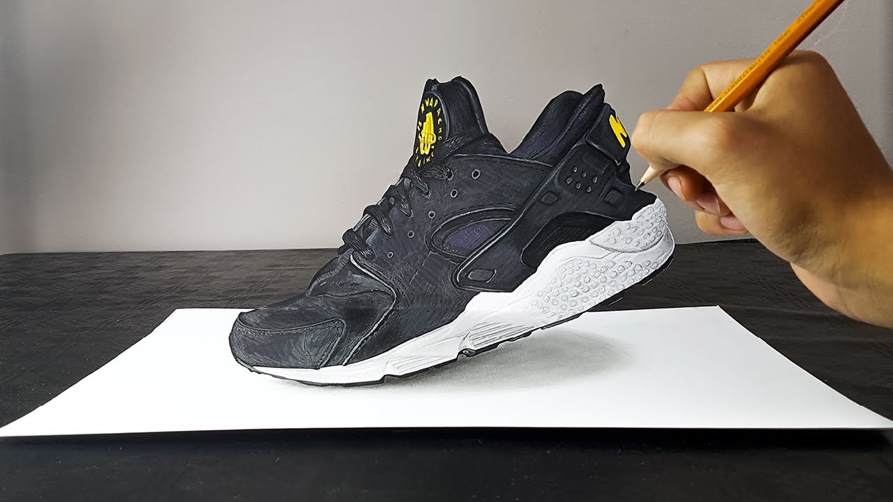 3D Drawing of a Nike Air Huarache - ART-CYO
