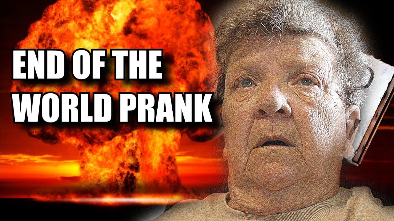 END OF THE WORLD PRANK ON ANGRY GRANDMA!