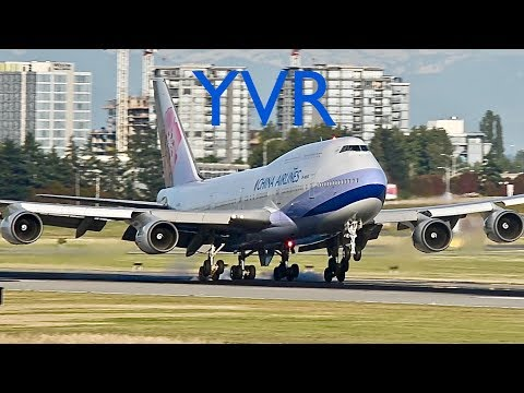 Stunning Golden Hour Landings at Vancouver YVR Airport