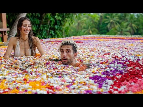 Filled Entire Pool With MILLIONS of Flowers  !SURPRISE!