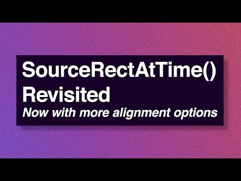 SourceRectAtTime() Revisited - Adobe After Effects tutorial