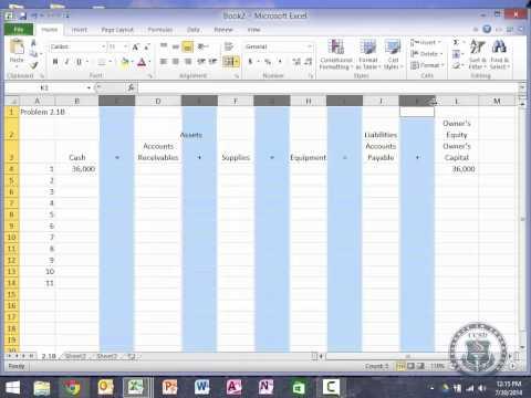 ACC101 - Chapter 2 - Part 1 Homework Walk through - Mr. Greer