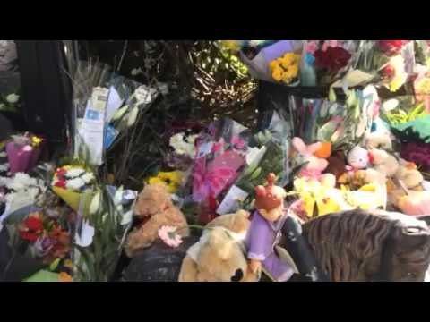 Floral tributes at site of Carrickmines tragedy