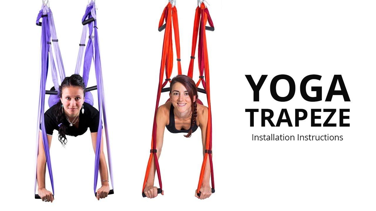 Yoga Trapeze Yoga Swing Setting Hanging Instructions Youtube