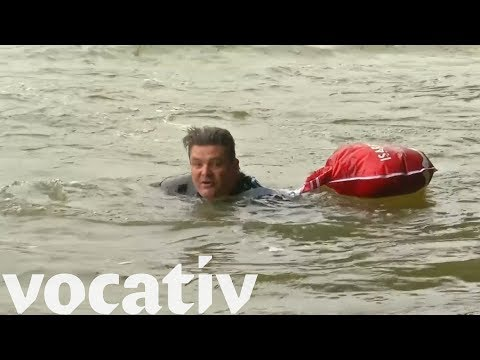 Meet The Man Who Swims To Work To Avoid Traffic