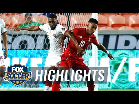 Download Qatar plays to wild 3-3 draw against Panama in Gold Cup debut | 2021 Gold Cup