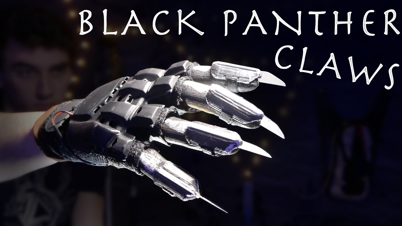 How To Make Real Life Black Panther Claws Youtube