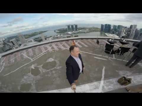 Jen Bday - Helipad atop Swissotel, Singapore