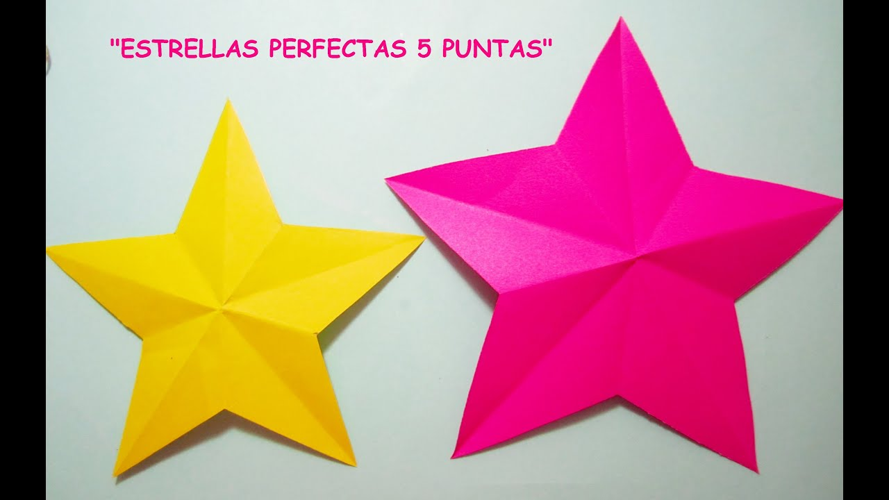 Manualidades Tutorial Estrella Perfecta 5 Puntas Youtube
