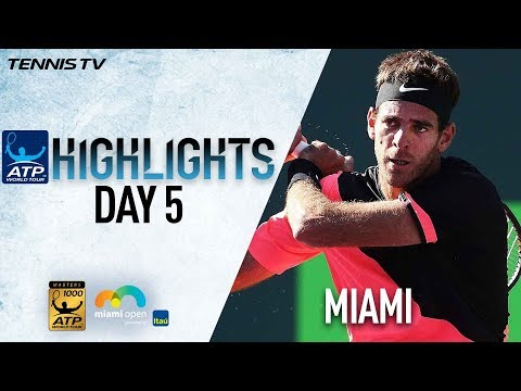 Highlights: Del Potro Brushes Aside Nishikori Miami 2018