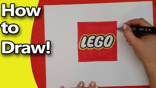 How to Draw the LEGO logo Step by Step