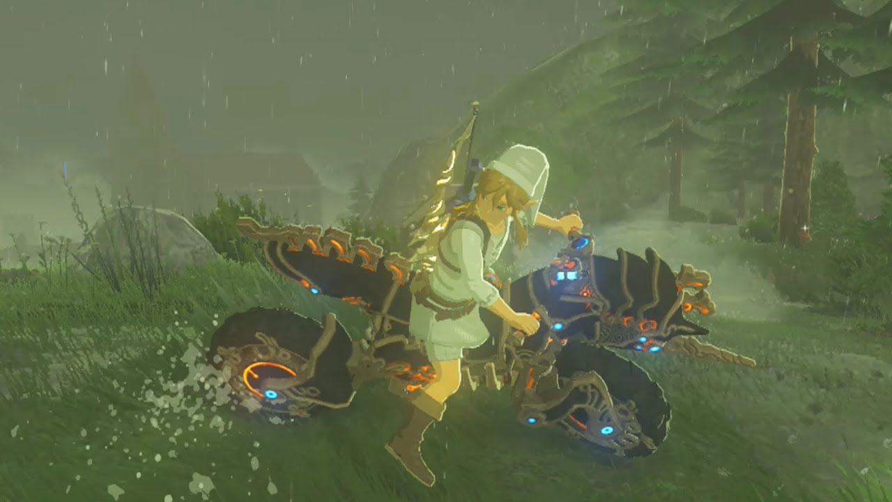Zelda Breath Of The Wild Master Cycle: Link Rides The Master Cycle Zero Across Hyrule