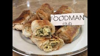Рулетики из лаваша с сыром и зеленью: рецепт от Foodman.club