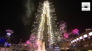 Фейерверк на башне Бурдж-Халифа. Дубай-2014. Новый рекорд Гиннесса!
