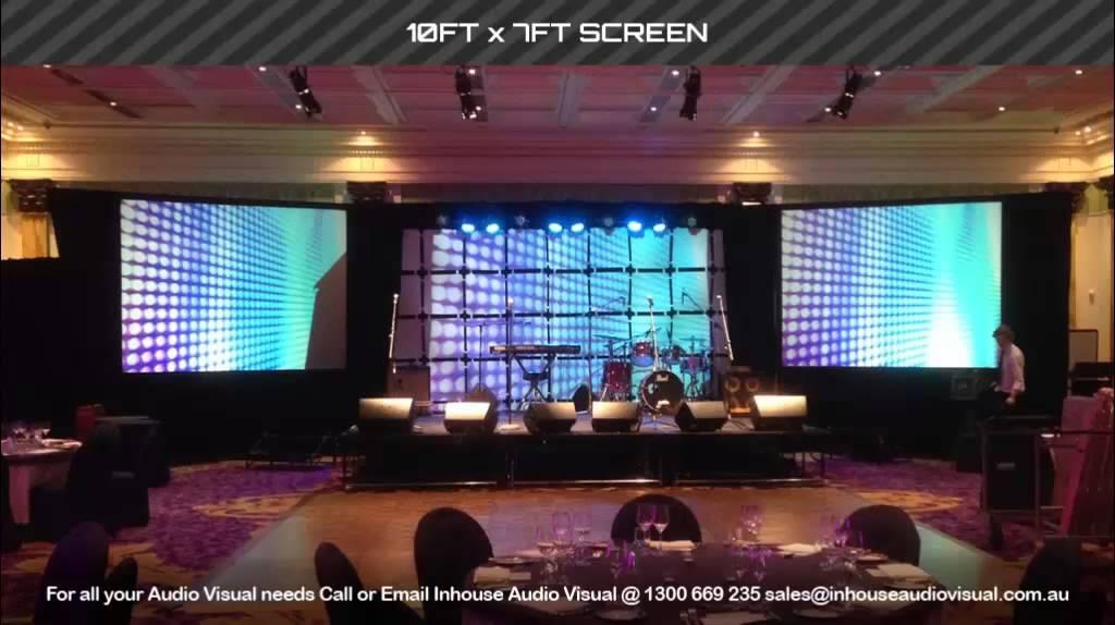 1af7e55d14f07d Inhouse Audio Visual Projector Screens - YouTube