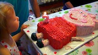 День Рождения Вареньке Торт Свинка Пеппа и едем на море Birthday Cake Peppa Pig and go to the sea