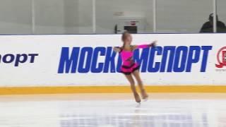 Аня Жукова. Фигурное катание. 2 юношеский разряд. 7 лет.