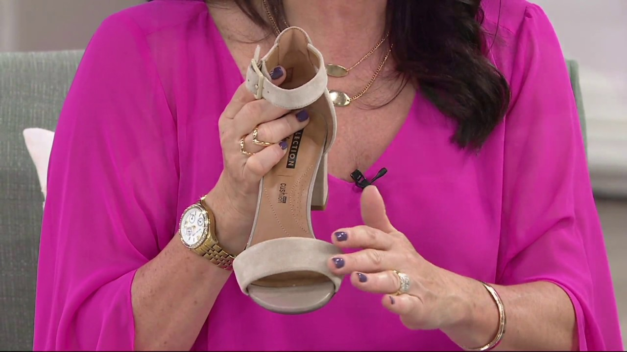 d04b892bc52 Clarks Suede Block Heel Sandals - Deva Mae on QVC - YouTube