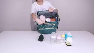 접이식 아기침대 침대백팩 휴대용 기저귀 교환대 가방 분…