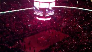 Last Game Derrick Rose Played Before ACL Tear!! (Player Introduction At The United Center)