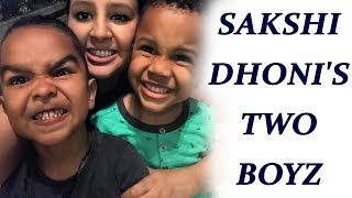 Shikhar Dhawan and Dwayne Bravo's son in a fun mode with Sakshi Dhoni | Oneindia News
