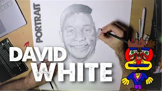 Painting Time-lapse | David White (Portrait) - SAG-AFTRA Member #SrToony