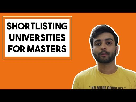 SHORTLISTING UNIVERSITIES FOR MS IN US