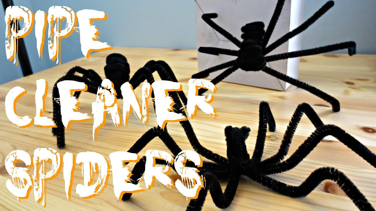 Using Pipe Cleaners To Make Spiders For Halloween