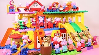 Peppa Pig Lego House Building With Water Slide Toys #5