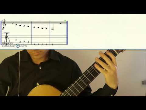 SCALA DI FA, Easy Guitar Tab