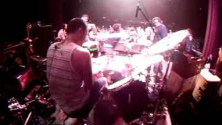 Fletcher from pennywise throws Fat mike into the drums.