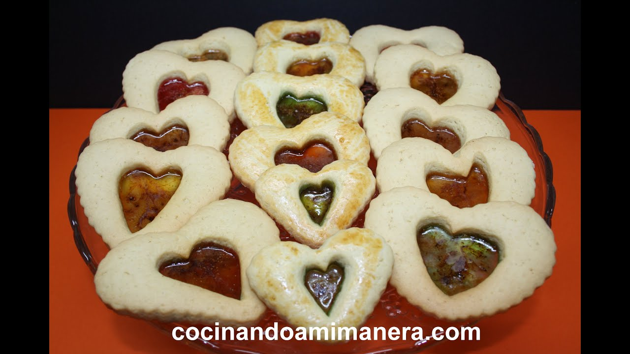 Galletas coraz n de caramelo youtube for Corazon de caramelo