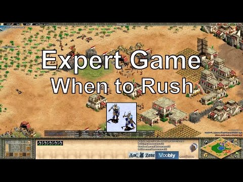 Aoe2: Experts - When to Rush - Map Position & Rush Distance