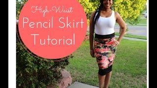 DIY Tutorial - High Waist Pencil Skirt with Colorblock Panels