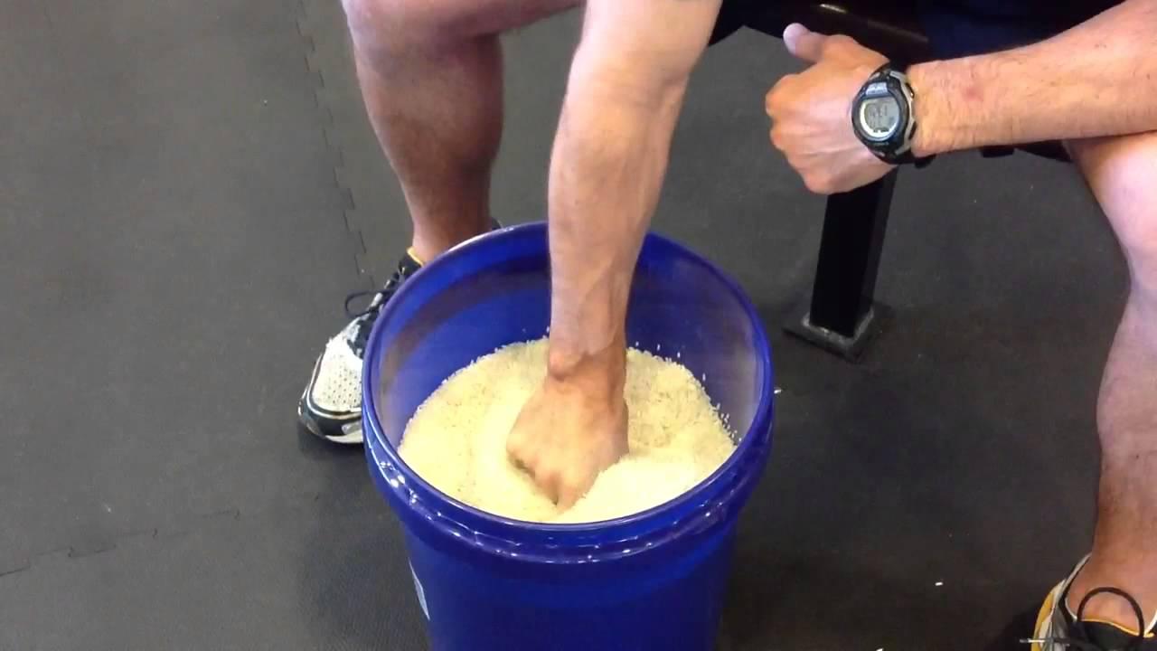 Rice Bucket Exercises for Baseball - YouTube
