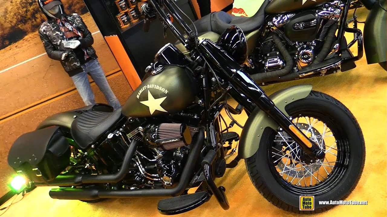 Harley Davidson Softail Slim Olive Green