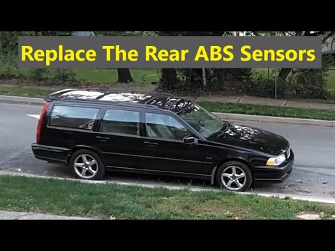 How to replace the rear ABS sensors on a AWD P80 Volvo car, S70, 850, V70, V70XC, V70R, etc. – VOTD