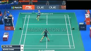 戴資穎 v 張蓓雯 TAI Tzu Ying vs ZHANG Beiwen 羽球世錦賽 2018 / BADMINTON W