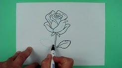 Wie zeichnet man eine Rose ? Zeichnen für Kinder