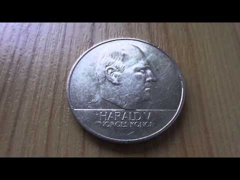 Harald V - Norges Konge - 20 Norwegian krone coin in HD