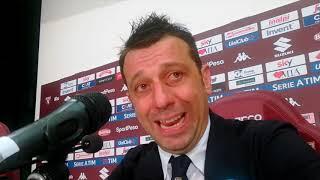 Mister D'Aversa dopo Torino-Parma 1-2