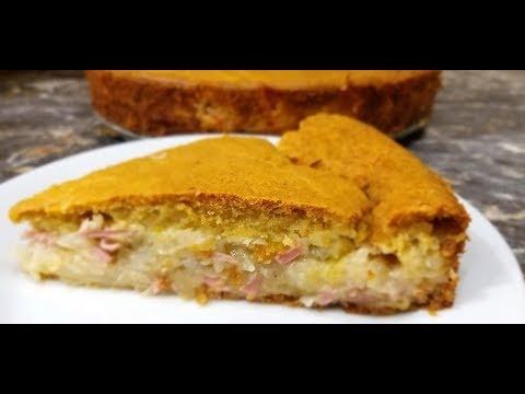 Пирог с капустой! Заливной пирог на кефире. Шарлотка с капустой. Заливной пирог.