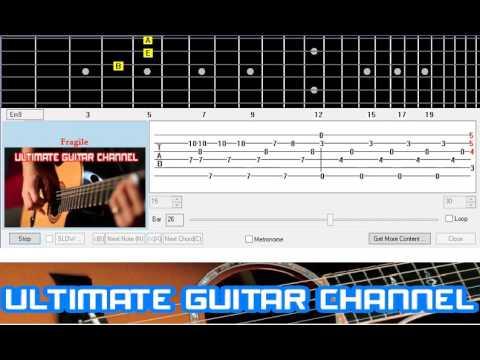 Guitar Solo Tab Fragile Sting Youtube