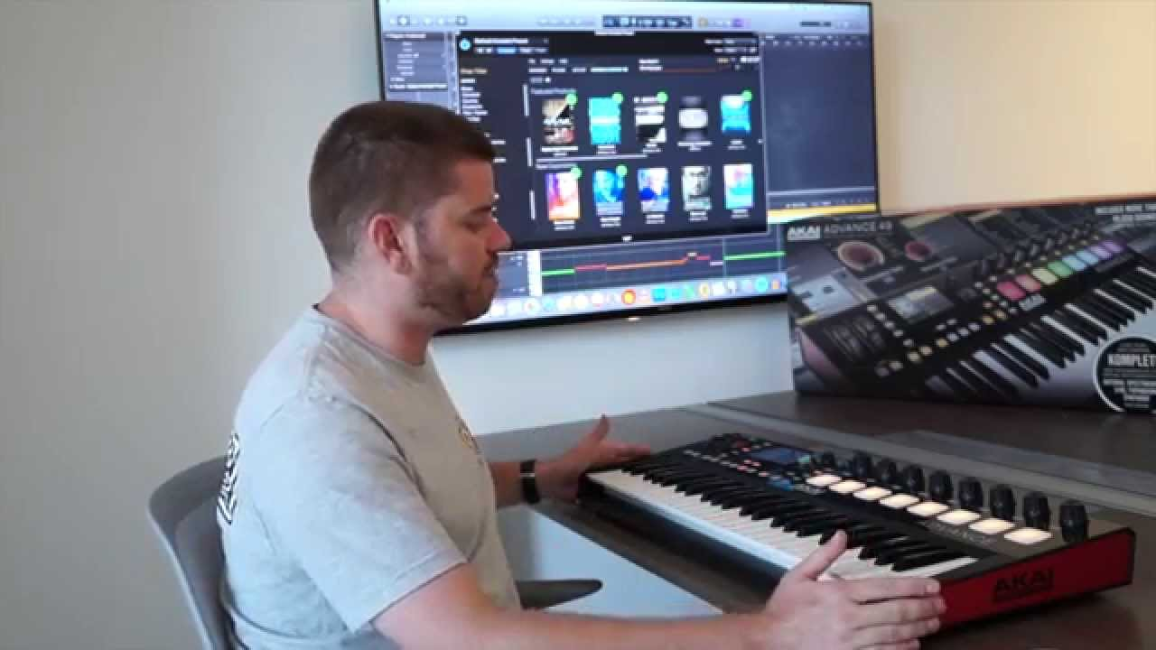 akai professional advance 49 keyboard controller review youtube. Black Bedroom Furniture Sets. Home Design Ideas