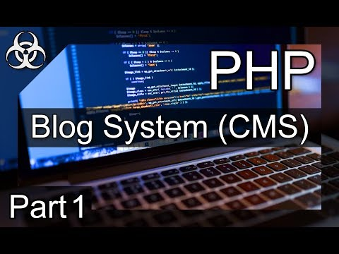 How to make a blog website using php