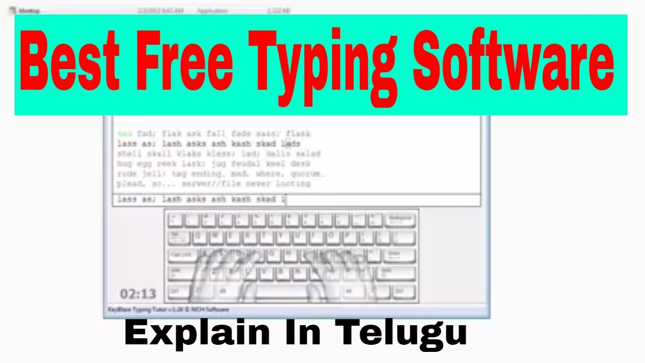 speed typing tutorial in telugu #09| keyblaze free typing tutor free