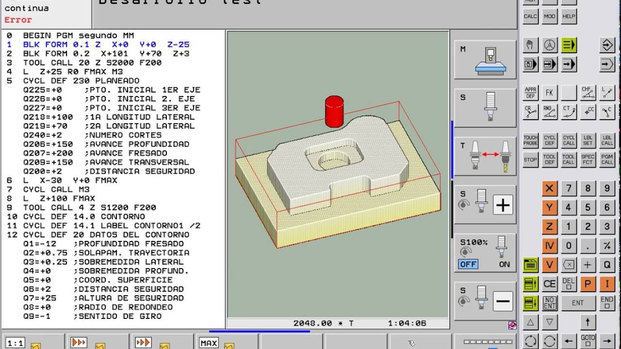 heidenhain cnc simulator itcn mill programming operating