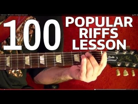 Rock Riffs Guitar Lesson - 100 BEST!! 🔷 Part 8 of 10 - YouTube