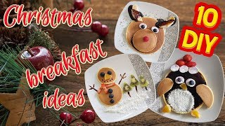 10 Best DIY Christmas Breakfast from pancakes and fruits tutorial / HOW TO!